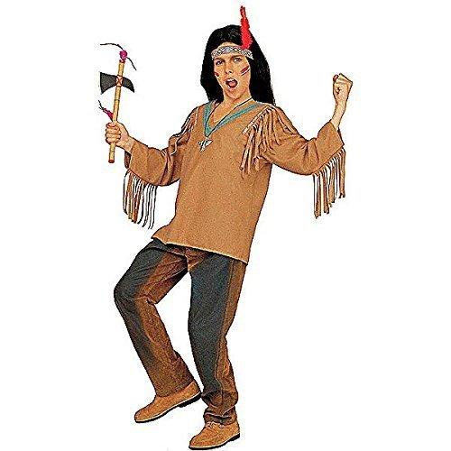 Indian Kostüm Apache - Children's Apache Coat & Headband Child 158cm Costume Large 11-13 yrs (158cm) for Wild West Indian Fancy Dress by Sancto