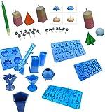 Proops Set X 11Kerzengießformen, 4geformter Tablett, Säule, Star, Pyramide, Rechteck, Rocket, Bereich, Pentagon, A-Z & Anzahl Tabletts. (s7614) versandkostenfrei innerhalb UK