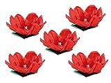 Unbekannt 'Naka Mari LED di Stagno della Felicità Rose: Galleggiante Acqua Lanterna Felicità Rose con la Luce del tè, 5Pezzi (LED di Stagno teelichte)