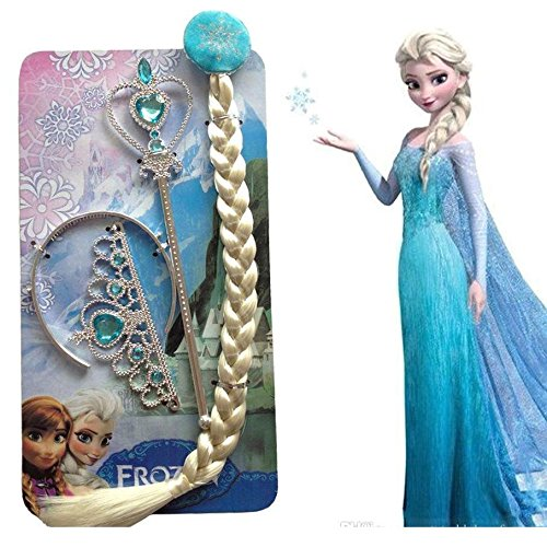 Fancy steps Accessories frozen elsa Anna (Crown + Hair Band + Frozen Wand) birthday gift
