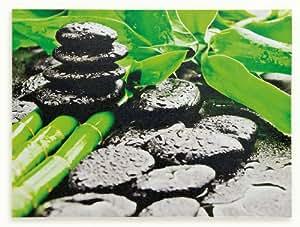 wandbild leinwandbild inklusiv schrauben bild motiv bambus wellness feng shui steine. Black Bedroom Furniture Sets. Home Design Ideas