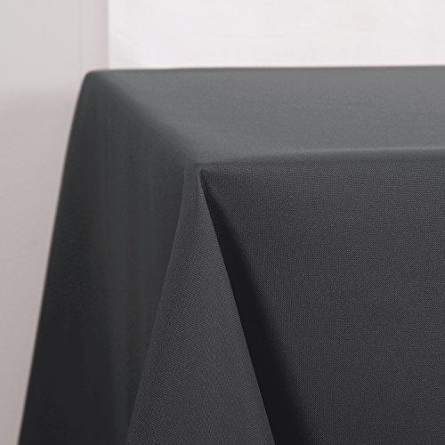 Deconovo Tischdecke Wasserabweisend Tischwäsche Tischtücher 140x240 cm Grau 1