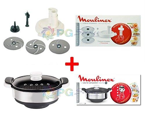 Moulinex Kit Accesorios Vaporera + Talla picador de verduras Cuco Cuisine Companion