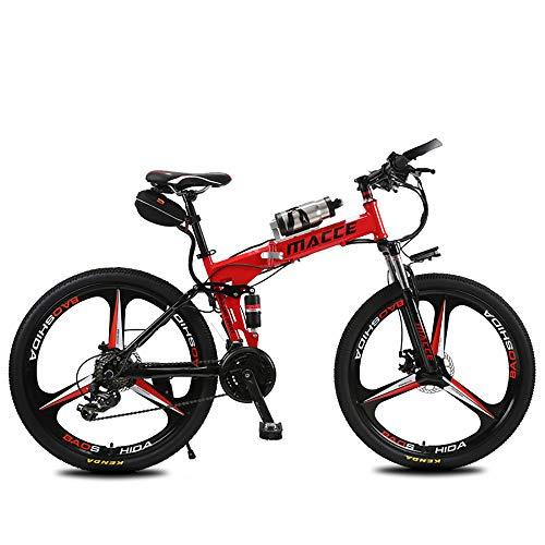 HYHY Bicicleta Eléctrica Plegable Bicicleta de Montaña Eléctrica de 26 \'\' con Batería de Iones de Litio de 36 V con Motor Potente de 240W