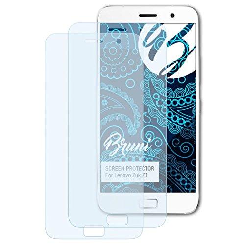 Bruni Schutzfolie für Lenovo Zuk Z1 Folie, glasklare Bildschirmschutzfolie (2X)