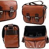 Sacoche aspect cuir pour appareil photo SLR Konica Minolta Dynax 5D, 7D et 40 Date, Dimage A1, Maxxum 7D – couleur marron par DURAGADGET
