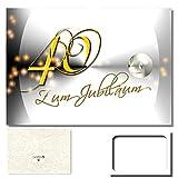 DigitalOase Jubiläumskarte 40. Jahrestag 40. Jubiläum Glückwunschkarte Geburtstagskarte Grußkarte Format DIN A4 A3 Klappkarte PanoramaUmschlag
