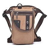 Outreo Borse Vintage Marsupio Sport Bag Borsa da Uomo Outdoor Borse da Viaggio Sportive Trekking Tasca Borsello Sacca da Gamba per Escursioni Corsa