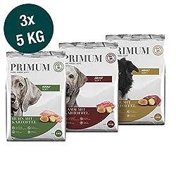 Primum   15 kg   Halbfeuchtes Trockenfutter für Hunde   getreidefrei   Soft Mix mit Kartoffel   Extra viel Fleisch   Optimal verdaulich   Herstellung in Deutschland