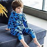 Kinder Cartoon Muster Baumwolle warme Pyjamas festgelegt