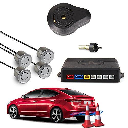 CAR ROVER Car Capteur de Stationnement Auto Système Stationnement BiBi Alerte Sonore Buzzer Avec 4 Capteurs Gris