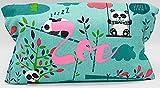 Portapañales personalizado pandas bambú nombre estampado en rosa