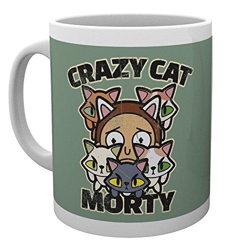 GB eye Rick y Morty Crazy Cat Morty taza, multicolor