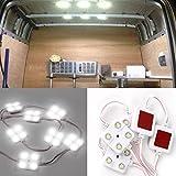Weihao auto luci interne 10x 4luci LED Strip, LED da soffitto per Van caravan rimorchi Sprinter Ducato Transit VW Lwb