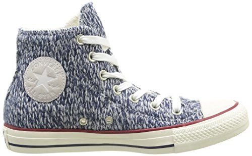 Converse, All Star HI Wool-Winter Knit, Sneaker, Donna Navy/Egret