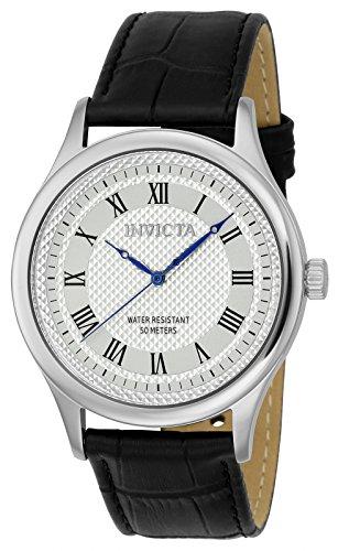 Invicta 23025 Vintage Reloj para Hombre acero inoxidable Cuarzo Esfera plata