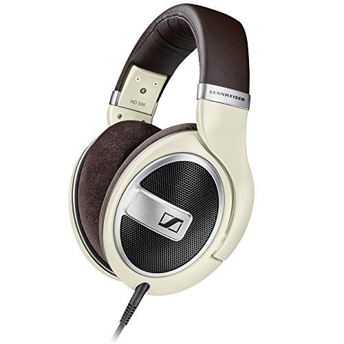 Sennheiser HD 599 Around-Ear Open Back Headphones - Ivory
