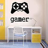 Autocollant mural autocollant en vinyle Temps de jeu xbox 360 Ps3 Controller Gamer 57x64cm
