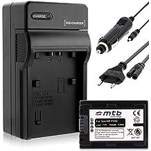 Batería + Cargador (Coche/Corriente) para Sony NP-FH50/FP-50 / DSC-HX1, HX100V, HX200V / Alpha... - ver lista!