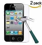 2x »Apple iPhone 4 / 4S« Panzerglas Displayschutzfolie | Blasenfrei | Ultra-HD | Bruchsicher | Rytek Panzerglasfolie ►lebenslange Garantie