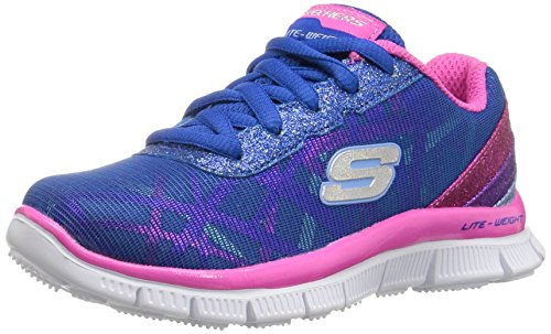 Skechers Girls Skech Appeal-Gimme Glimmer Low-Top Sneakers, Blue (Blmt), 3 UK 36 EU