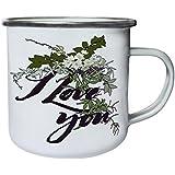 Nuevo Te Quiero Diseño Floral Retro, lata, taza del esmalte 10oz/280ml m329e