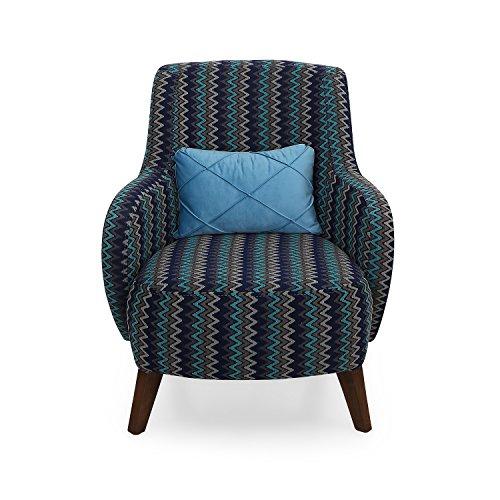 @home by Nilkamal Single Seater Sofa (Blue)