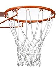 BBTO 12 Rete da Basket Robusto Si Adatta Interno o Esterno Pallacanestro Cerchio (Bianco)