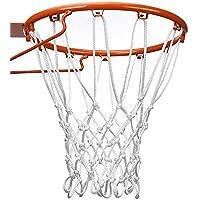 Red de Baloncesto de 12 Bucle de Tarea Pesada Adecuada Aro de Baloncesto Interior o Exterior Estándar (Blanco)