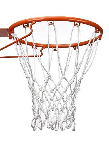 12 Loop Schwer Last Basketball Netz Basketballnetz Passt Standard Indoor oder Outdoor Basketball Hoop (Weiß)