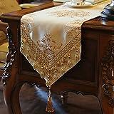 moderne Tischläufer Flaggen der Europäischen Stil Luxus Esstisch Side Cabinet Läufer Tisch TV-Läufer Abdeckung Tuch-C 30x220cm(12x87inch)