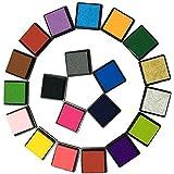 aoxintech Kinder Fingerabdruck Bild waschbar Mehrfarbig 24Farbe Stempel Pads Pigment Tinte DIY Toys