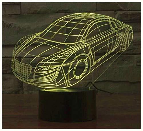 Auto 3D Licht Bunte Gradienten LED Nachtlicht Kreatives Geschenk Geschenk Licht Optische Led, 3D Nachtlicht ()