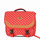 Cartable 41 cm Snowball rouge à pois