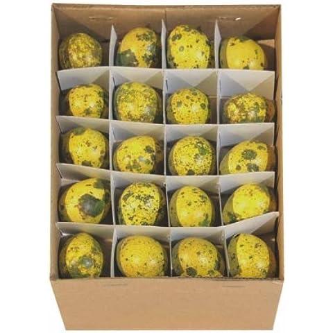 Uova di quaglia D3cm 60st. giallo - Uova Di Quaglia