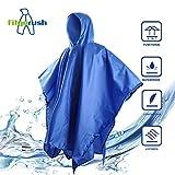 Fitgorush Regenponcho 3-in-1 Multifunktion Regenmantel , Wasserdicht Regen Poncho Taschen-Decke Sonnensegel für Fahrrad Outdoor Camping Wandern