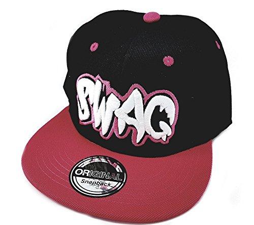 Imagen de snapback sports caps  negro rosa swag