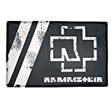 Rammstein Fahne Flagge schwarz, Offizielles Band Merchandise