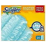Swiffer Duster Ricariche per Piumino Catturapolvere, Ricambio Maxi Formato, 20 Pezzi, Cattura la Polvere, i Peli e gli Allergeni, Dotati della Tecnologia Trap + Lock