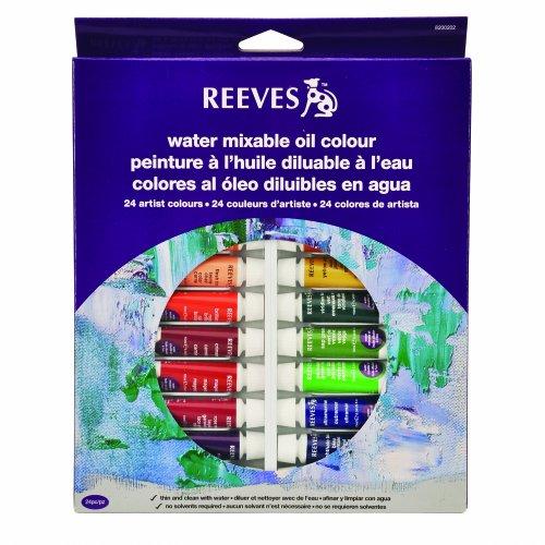 reeves-8200202-wassermischbare-olfarbe-set-24-x-10-ml-tuben