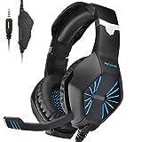 PECHAM ps4 Gaming auriculares con micrófono para Xbox nueva uno, PS4,...