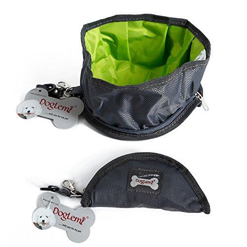 Haustier Futternapf Faltbar Tragbare Reisenäpfe Wasserdicht Dishes für Haustier Hund Katze Schüssel (M, Grau) (Hund Kostüm Zwei Hunde Transport Box)