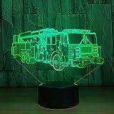wangZJ 3d nachtlicht/led lampe/baby kindergarten nachtlicht/weihnachten geburtstagsgeschenke mit / 7 farbwechsel 3d feuerwehrauto