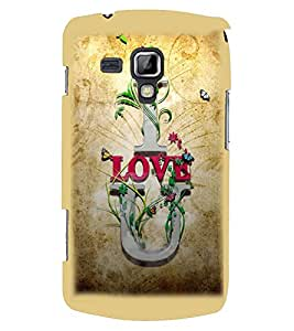 Printvisa Brown Background Love Quote Back Case Cover for Samsung Galaxy S Duos S7562