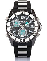 BISTEC Hombres hora Dual deportes luz LED Digital reloj de pulsera de cuarzo resistente al agua