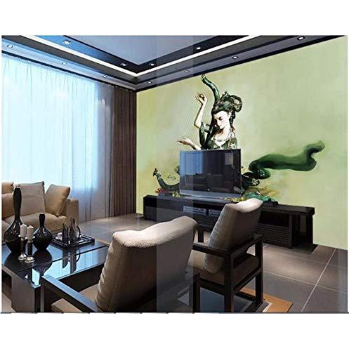 Tier Kostüm Weibliches - Luzhenyi Tapete Schönheit Flying Fuqin Weibliche Sexy Schönheit Kostüm Ölgemälde-280(H)*400(W) Cm