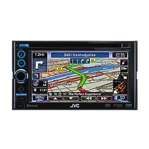 """JVC KW-NT3E Autoradio avec Système de Navigation écran 6,1"""" Bluetooth Noir"""
