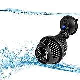 YAOBLUESEA Aquarium Strömungspumpe Wave Maker Wellenpumpe Strömungspumpe flachen Meerwasser Umwälzpumpe 2500 L/h 3W mit Absorption Tray