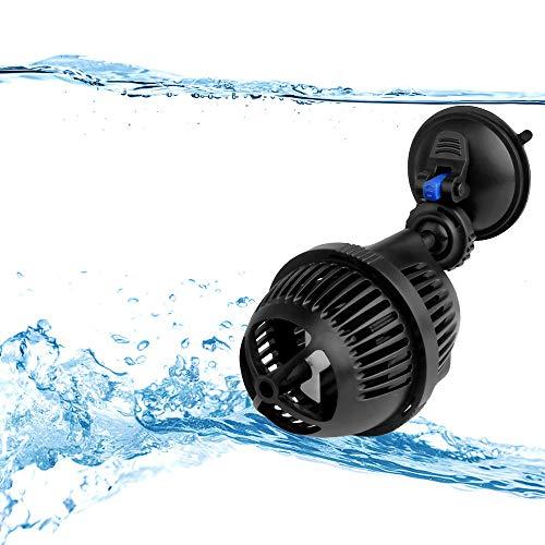 YAOBLUESEA Aquarium Strömungspumpe Wave Maker Wellenpumpe Strömungspumpe flachen Meerwasser Umwälzpumpe 2500 L/h 3W mit Absorption Tray -
