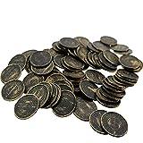 Faironly Piraten-Requisiten Münzen Simulation Spielchip Treasures 100 Stück, Pattern Bronze Color 100pcs (Bulk), S Pattern Br